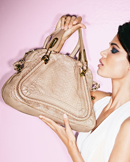 Paraty Python Shoulder Bag, Sand