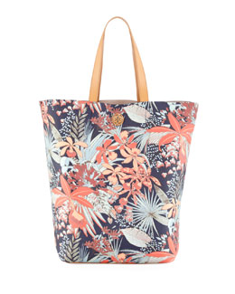Tory Burch Kerrington Floral-Print Tote Bag