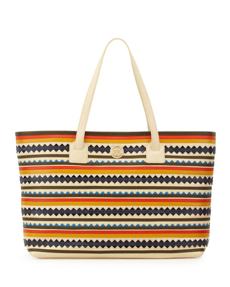 Robinson Zigzag East-West Tote Bag, Multicolor