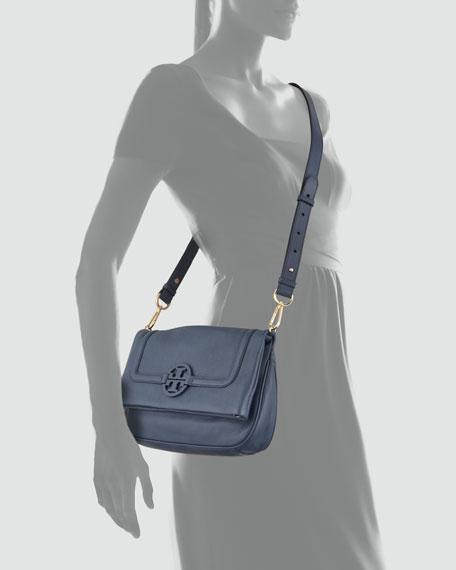 Amanda Fold-Over Messenger Bag, Navy