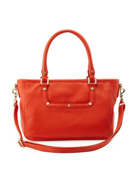 Amanda Mini Satchel Bag, Red/Orange