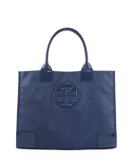 Ella Coated Canvas Tote Bag, Navy