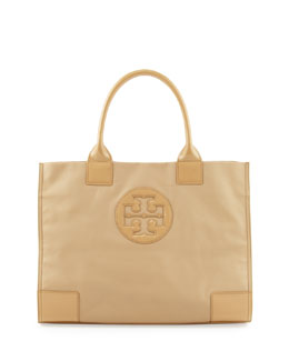 Tory Burch Ella Coated Canvas Tote Bag, Camel