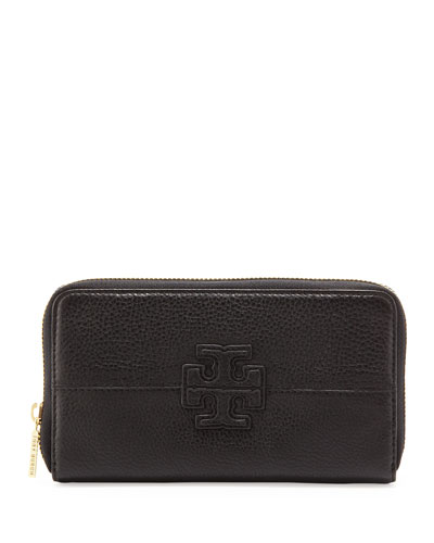 Tory Burch Stacked Continental Zip Wallet, Black