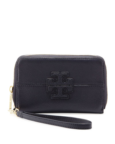Tory Burch Stacked-T Smart Phone Wristlet, Navy