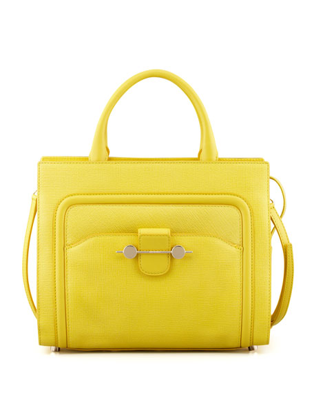 Daphne 2 Leather Crossbody Bag, Yellow