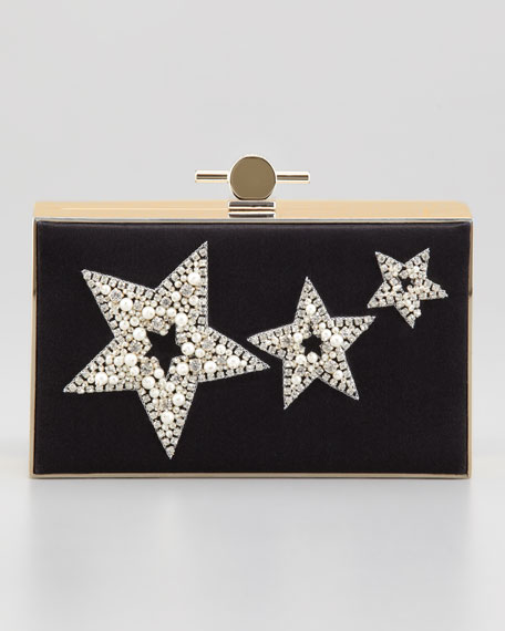 Karlie Star-Studded Box Clutch Bag