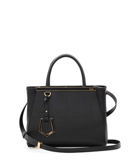 Fendi 2Jours Petite Satchel Bag, Black