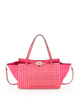 Valentino Rockstud All Over Medium Tote Bag, Pink
