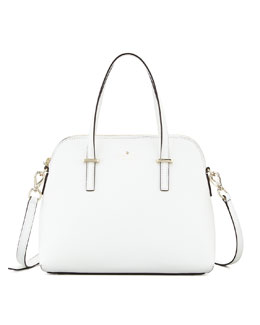 kate spade new york cedar street maise satchel bag, cream