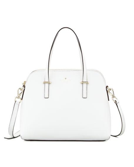 cedar street maise satchel bag, cream