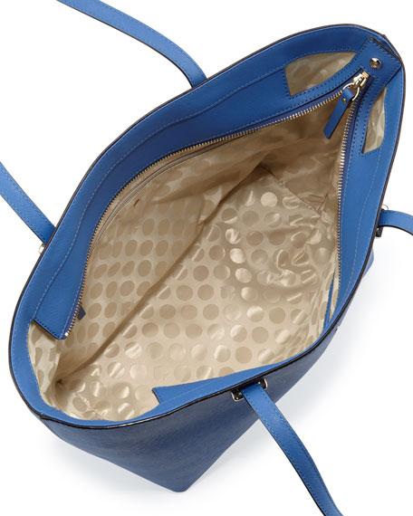 cedar street harmony tote bag, bluebell