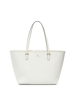 kate spade new york cedar street small harmony tote bag, cream
