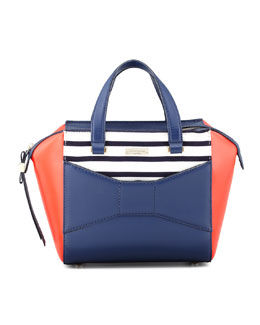 kate spade new york 2 park avenue beau small shopper tote bag, french navy