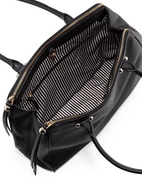 charles street kensington satchel bag, black