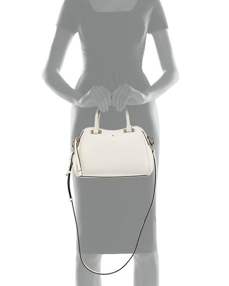 charles street mini audrey satchel bag, cream