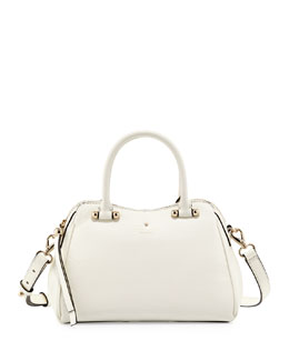kate spade new york charles street mini audrey satchel bag, cream