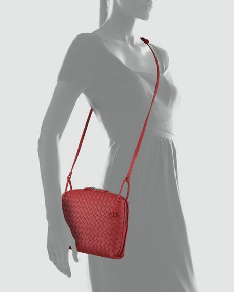 Veneta Small Messenger Bag, Red