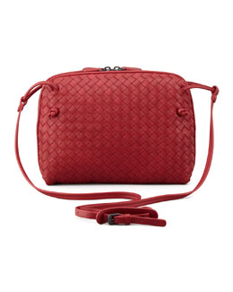 Bottega Veneta Veneta Small Crossbody Bag, Red