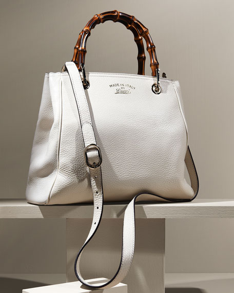 gucci bags at neiman marcus. bamboo shopper leather tote bag, mystic white gucci bags at neiman marcus