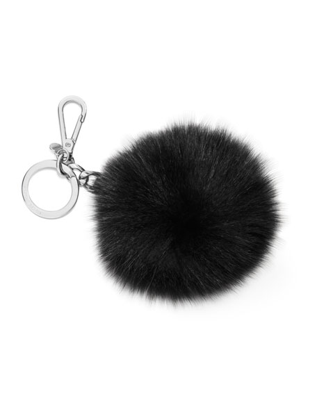 Rabbit Fur Pom Charm