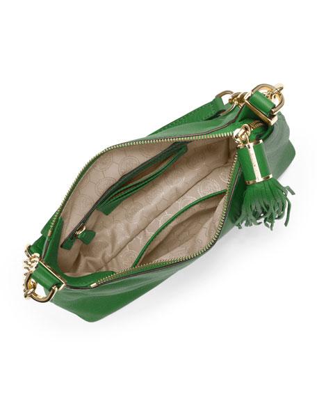 Small  Bedford Tassel Pebbled Messenger Bag