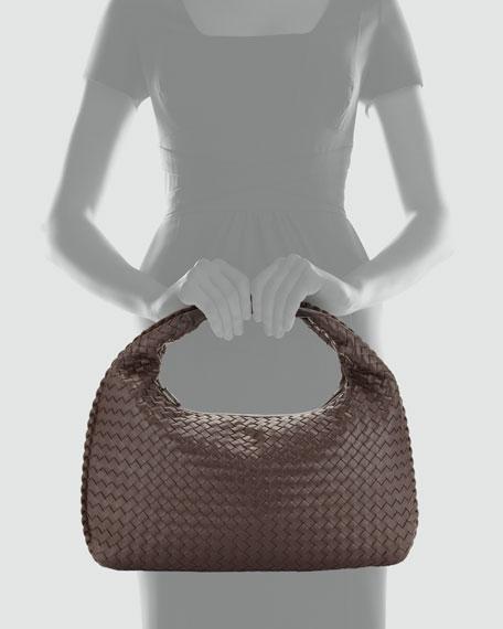 Veneta Intrecciato Medium Hobo Bag, Dark Brown