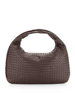 Bottega Veneta Intrecciato Medium Hobo Bag, Dark Brown
