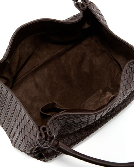 Parachute Intrecciato Shoulder Tote Bag, Dark Brown