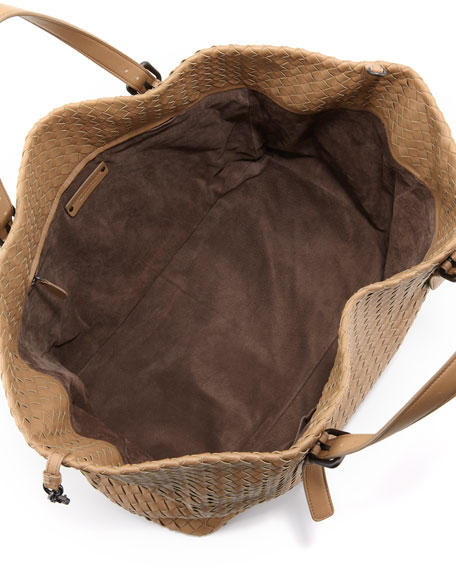 Large Double-Strap A-Shape Tote Bag, Walnut