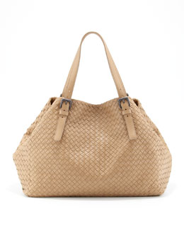 Bottega Veneta Large Double-Strap A-Shape Tote Bag, Walnut