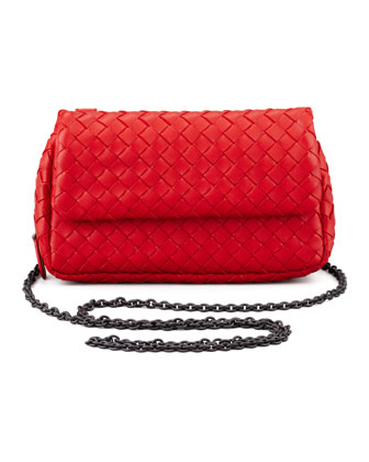 Woven Mini Crossbody Bag, Red
