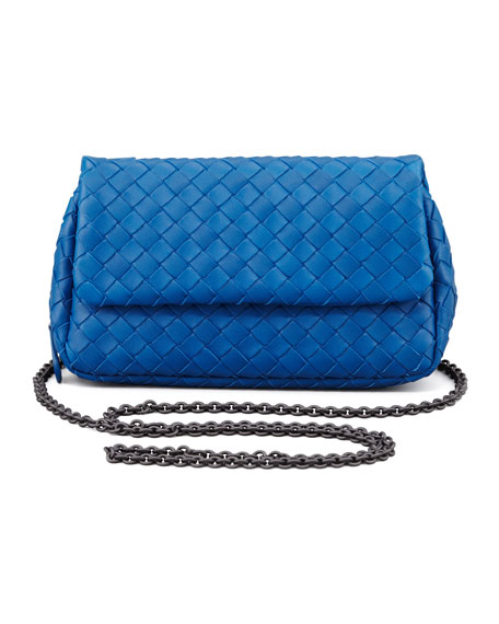 Woven Mini Crossbody Bag, Blue