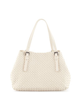 Bottega Veneta Veneta A-Shape Medium Tote Bag, Pearl