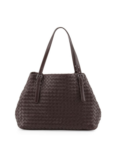 Bottega Veneta A-Shaped Tote Bag, Dark Brown