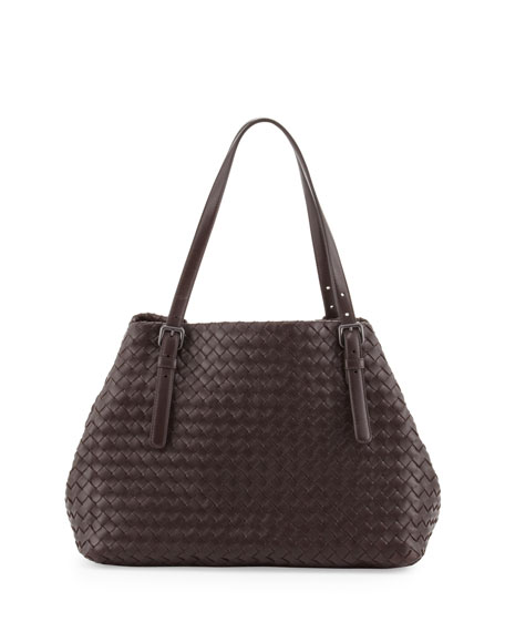 Bottega Veneta A-Shaped Tote Bag, Dark Brown