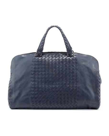 Leggero Intrecciato Tote Bag, Navy