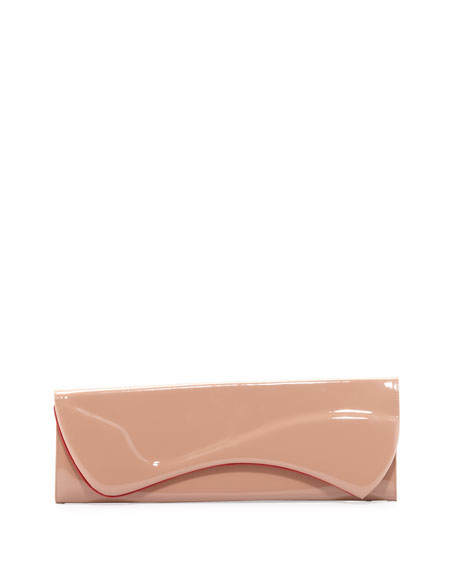 Pigalle Patent Clutch Bag, Nude