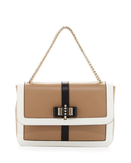 Sweet Charity Shoulder Bag, Beige/White