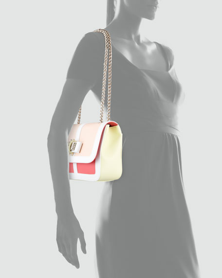 Sweet Charity Colorblock Shoulder Bag, Multi Colors