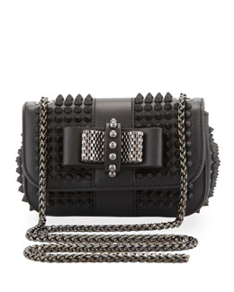 Christian Louboutin Sweet Charity Small Spiked Crossbody Bag, Black