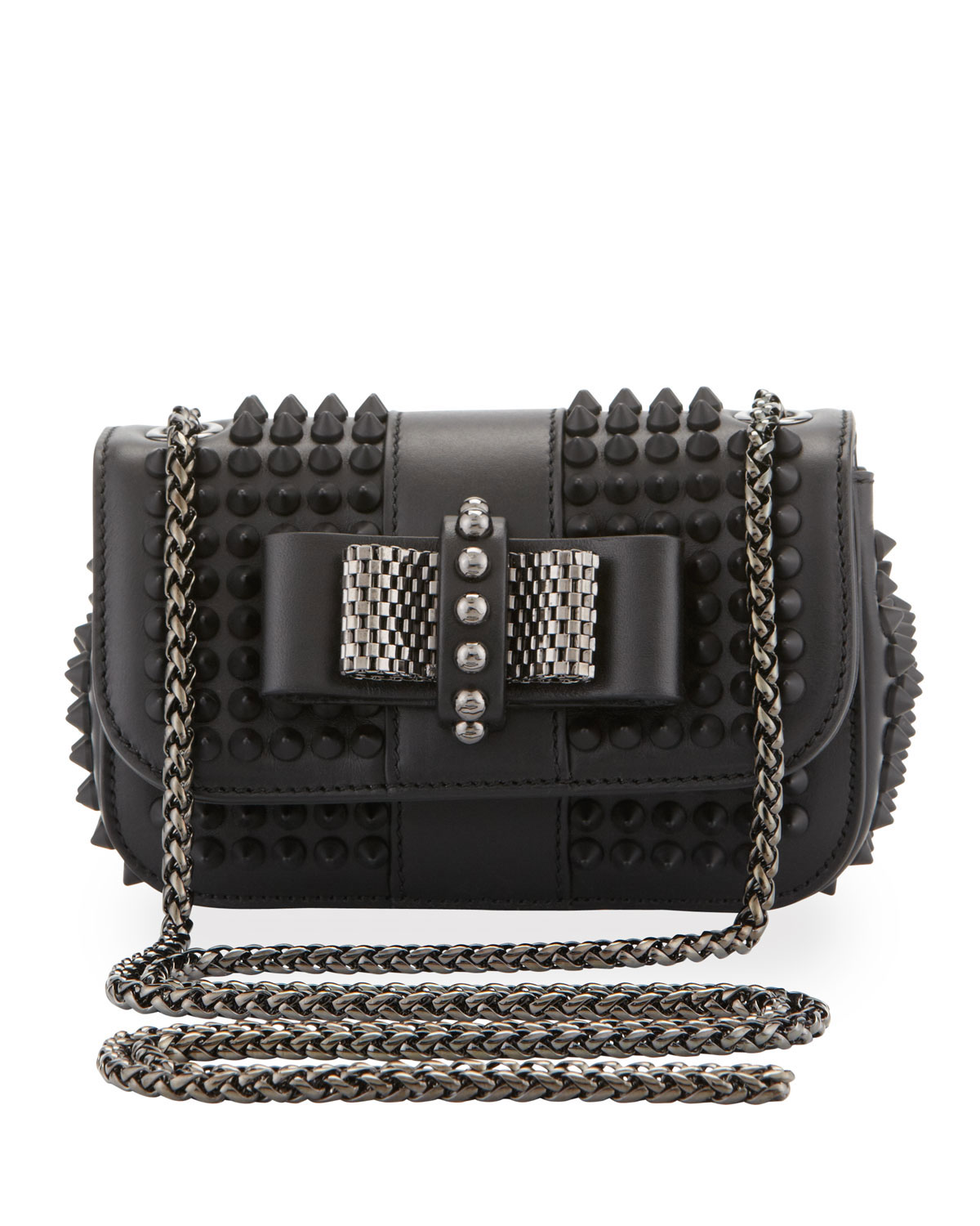 d7a9303eed1 Sweet Charity Small Spiked Crossbody Bag, Black