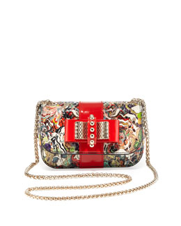 Christian Louboutin Sweet Charity Small Python Crossbody Bag, Multi