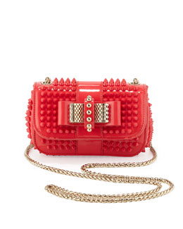 Christian Louboutin Sweety Charity Spiked Crossbody Bag, Pink