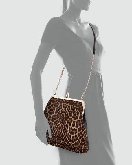 Maxi Loubi Leopard-Print Convertible Clutch