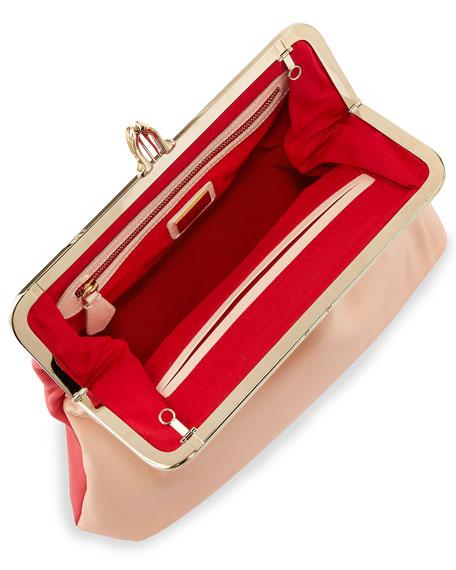 Fold-Over Shoulder Bag and Clutch