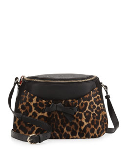 Christian Louboutin Salina Zip-Top Messenger Bag, Leopard