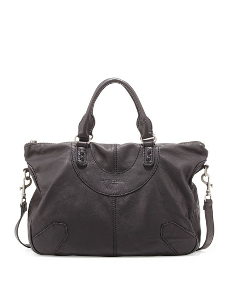 Paula D Leather Knot Tote Bag, Black