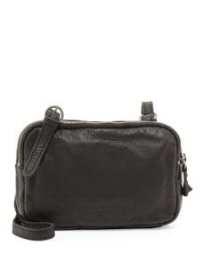 liebeskind maike b leather crossbody bag black. Black Bedroom Furniture Sets. Home Design Ideas