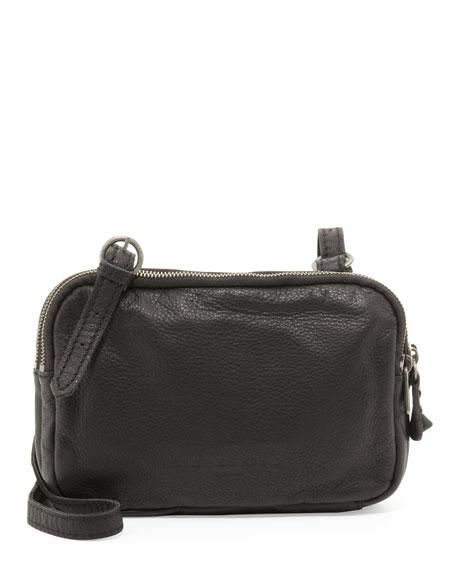 Maike B Leather Crossbody Bag, Black